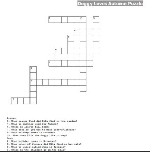 autumn crossword puzzle