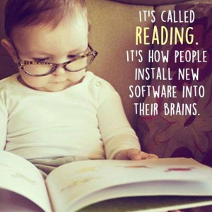 children reading poster two